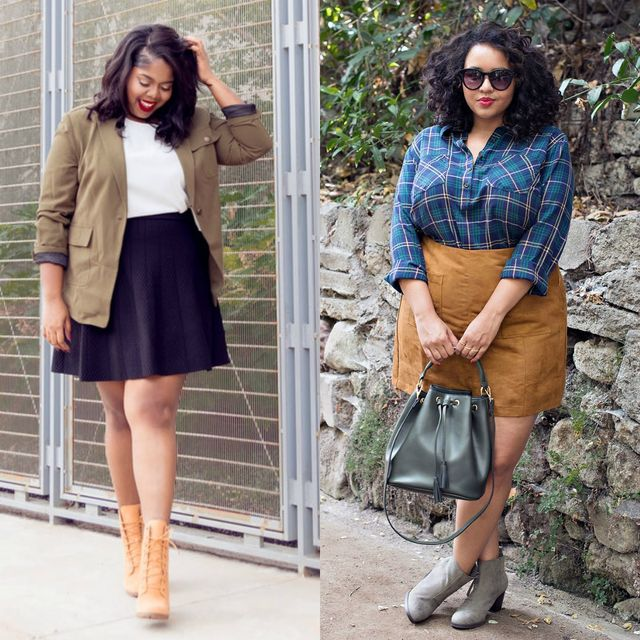 Spring plus size outfit ideas for ladies | Plus size spring outfit ideas with boots