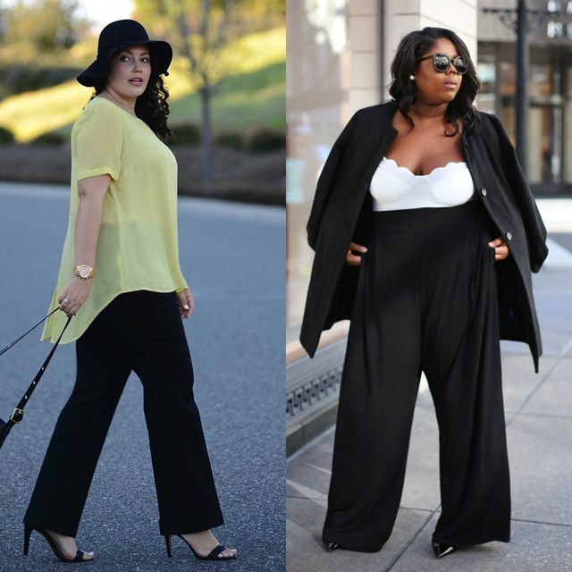 Spring plus size outfit ideas for women | Spring outfits with pants for plus size ladies