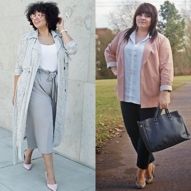 Spring plus size outfit ideas for ladies | Spring outfits with pants for plus size ladies