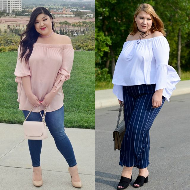 Spring plus size outfit ideas for women | Spring outfits with tops for plus size ladies