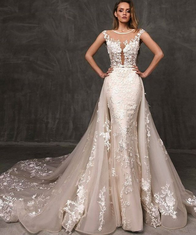 Best Wedding Dresses | Wedding dresses with flowers embroidery