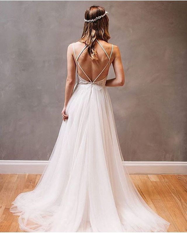Best Wedding Dresses | Bride dresses with straps