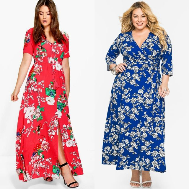 Best Ideas About Plus Size Maxi Dresses | Plus size summer maxi dress with sleeves