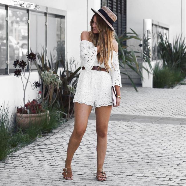 How to wear rompers | Lace romper