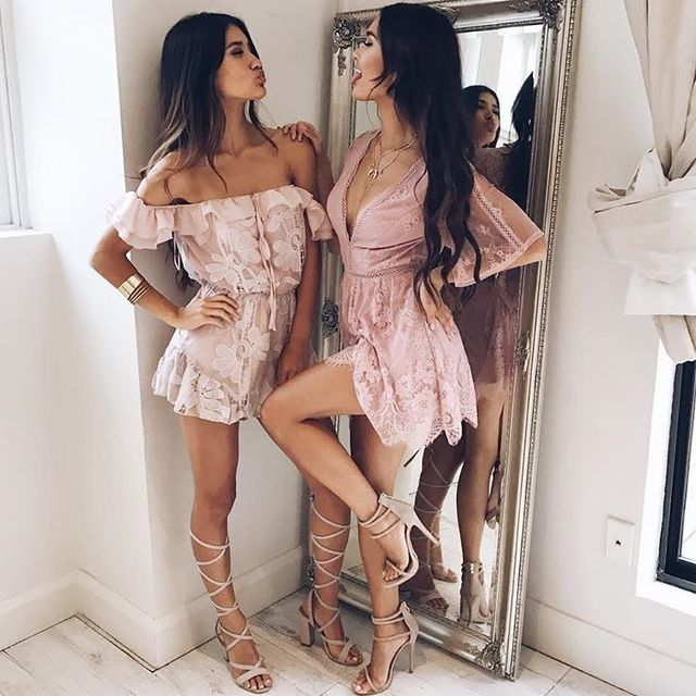 Pink romper outfits