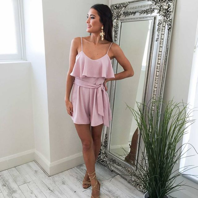 How to wear rompers | Pink romper