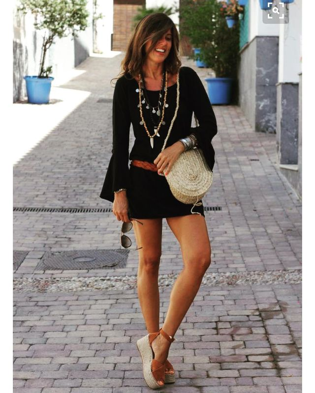 Casual short black romper outfit