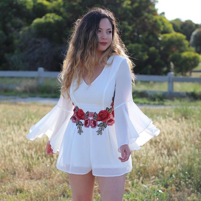 How To Wear a white romper