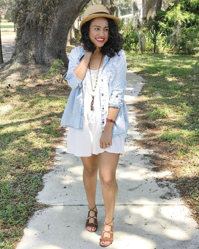 How to style white rompers