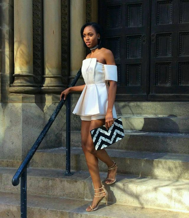 How to wear a chic elegnat white romper