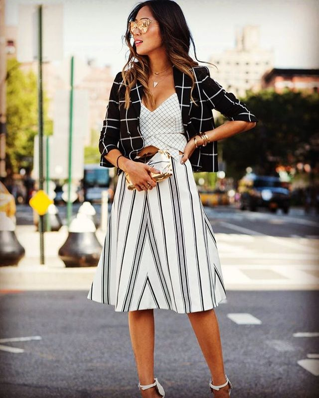 How To Style Summer Skirts | A line skirt outfit ideas