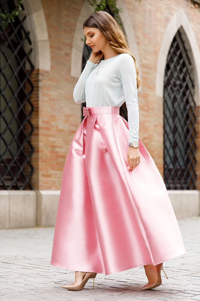 Long skirt outfit | How to wear long skirts without looking frumpy