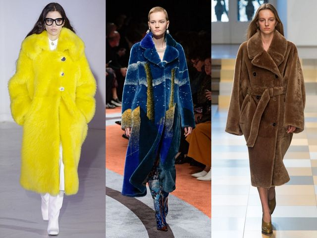 Fall-Winter 2017-2017 trendy coats made of faux fur