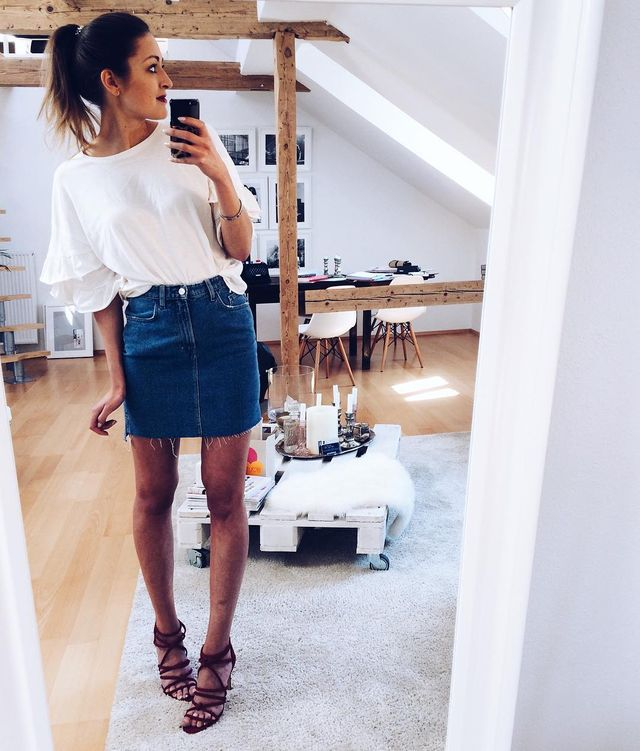 Summer Skirt Outfits | High waisted skirt outfits