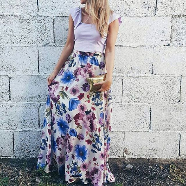 Long skirt Outfits for Summer | How to wear long skirts casually