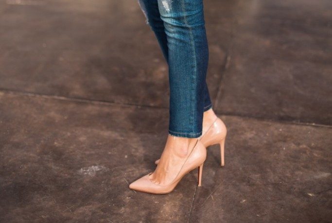 Nude shoes for business casual outfits