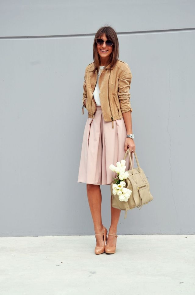 Chic business casual outfits with skirts