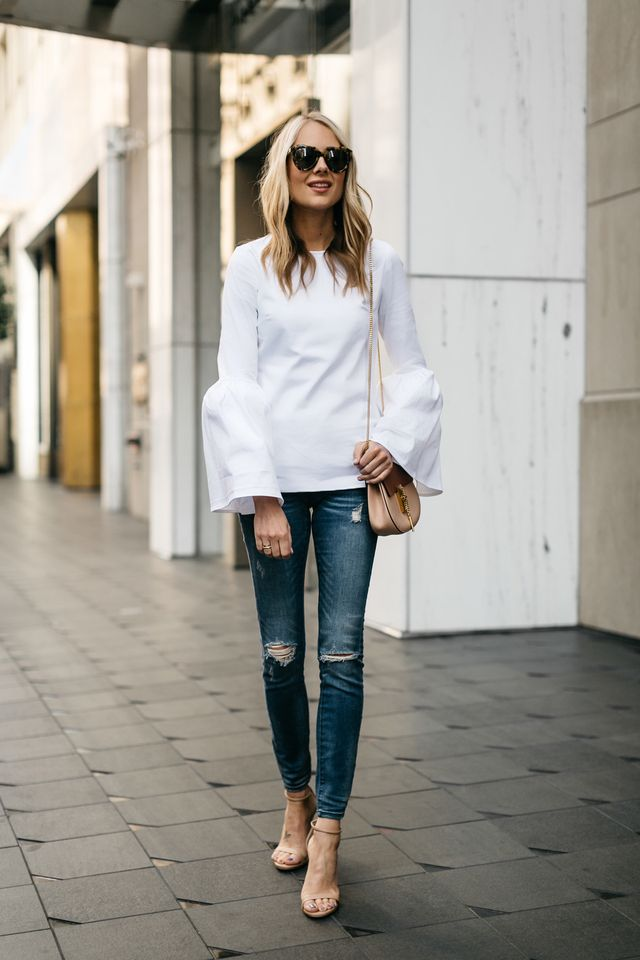 What to wear with blue jeans | Long tops for jeans wear