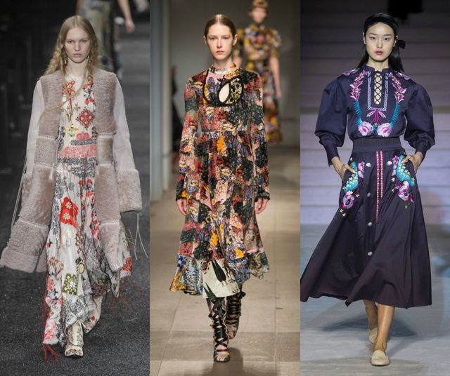 Fall Winter 2017 2018 Fashion Trends | Boho prints, Ethnic prints, Folk and Floral prints