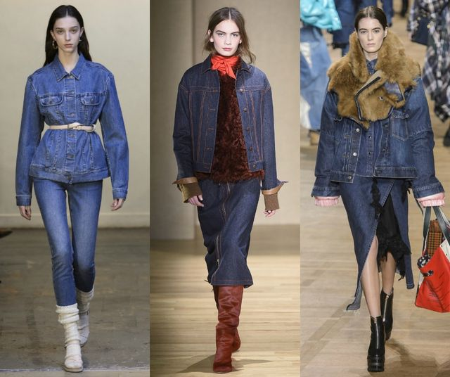 Fall Winter 2017 2018 Fashion Trends | Denim combo sets