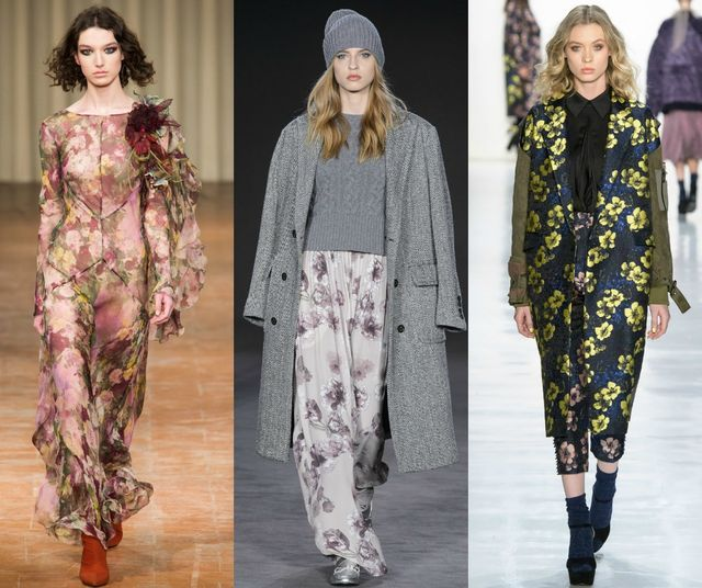 Fall Winter 2017 2018 Fashion Trends | Floral prints for fall winter 2017 2018 fashion trends