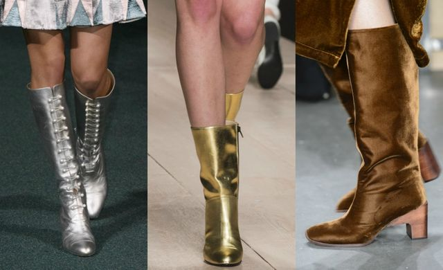 Fall Winter 2017 2018 Fashion Trends | Metallic boots or glossy boots