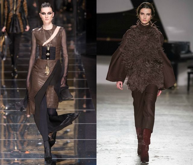 Wear chocolate brown for the fall season