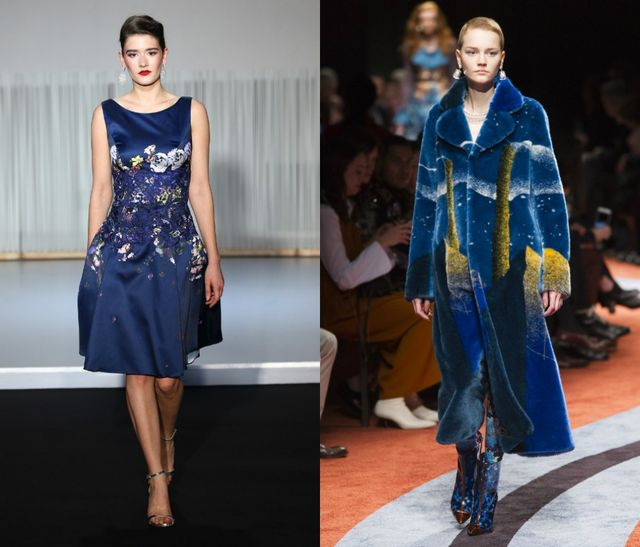Deep Blue for fall winter 2017
