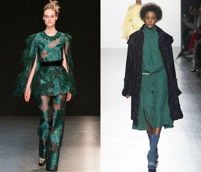 Green is the color for the fall winter 2017 season