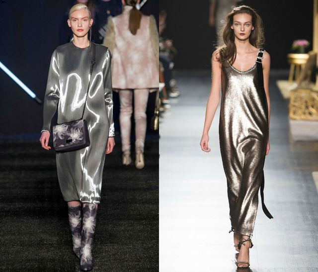 Metallic dresses for fall winter 2017 trends