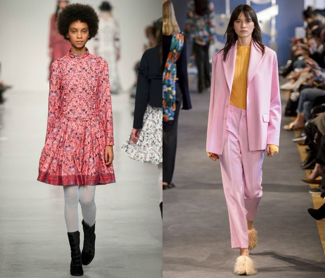 Pink is a trendy color for fall winter 2017