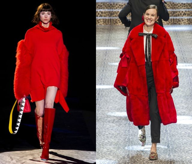 Wear red in fall to be trendy in 2017