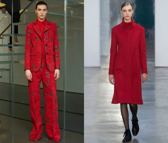 Red color for 2017 fall winter trends