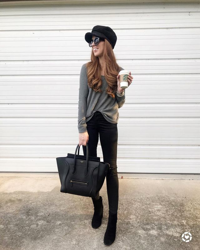Black booties are women casual shoes to wear with jeans