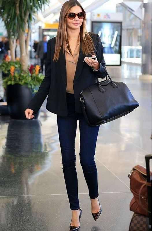 Fall outfits with skinny jeans and black jacket