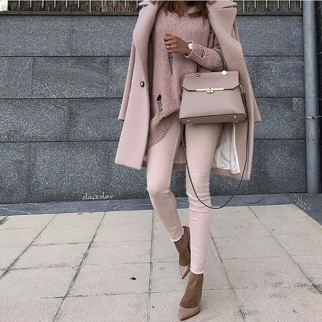 Pale ping fall outfits for women
