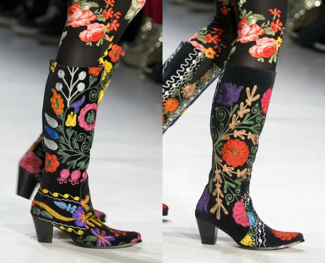 Fall Winter 2017 shoe trends | Embroide cowboy boots