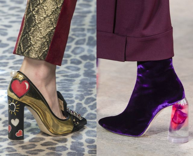 Shoes and boots with fancy heels for fall winter 2017 shoes trends
