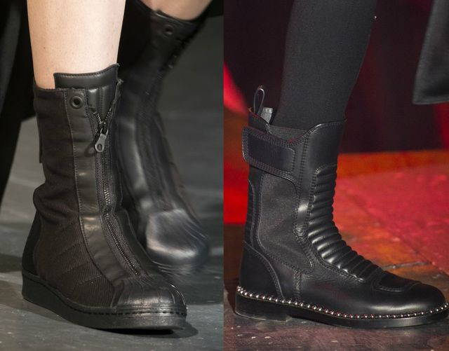 Autumn Winter 2017 shoe trend | Black military boots