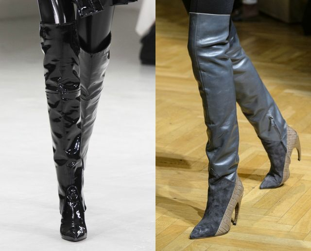 Fall Winter shoes trends | Boots above the knee with high heels