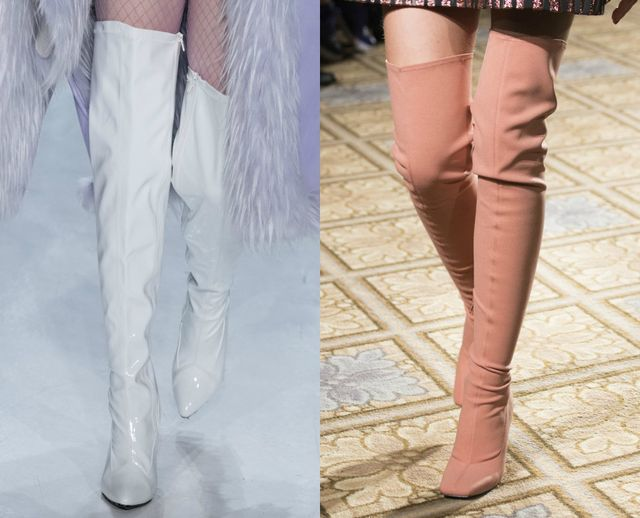 Fall Winter shoes trends | Colored boots above the knee