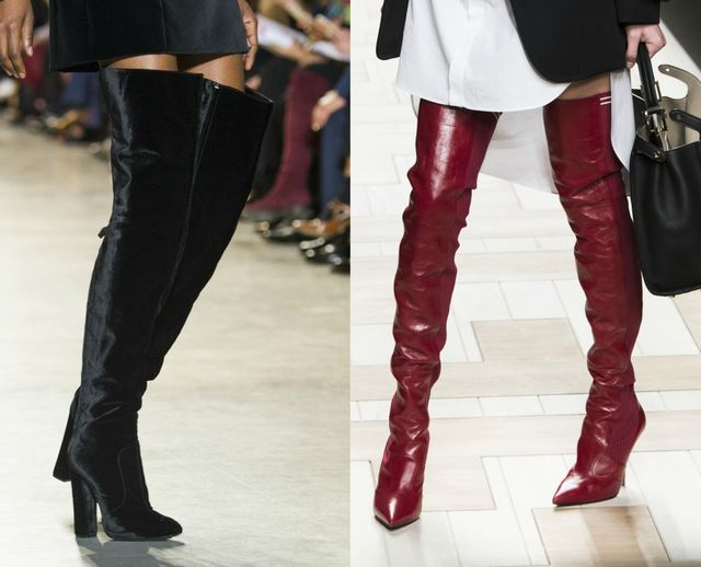 Fall Winter shoes trends | Boots above the knee with heels