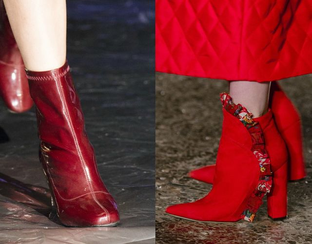 Red boots for fall/ winter shoes trend