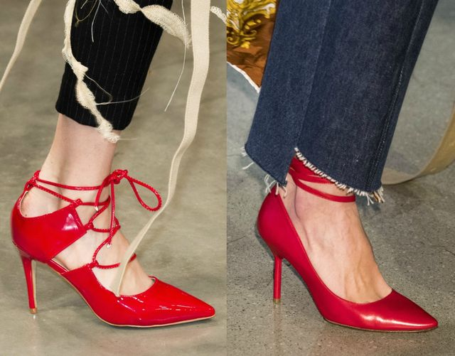 Red stilettos for fall winter 2017 shoe trends