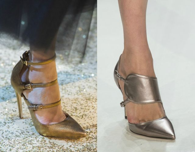 Shiny shoes for women | Fall Winter 2017 shoes trend