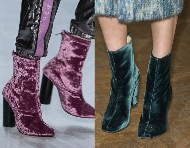 Velvet boots for fall winter 2017 shoe trends