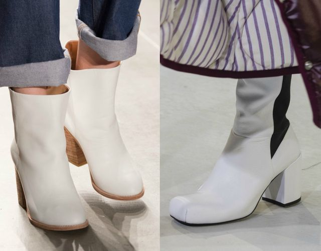 White boots for fall winter 2017 Shoe trends