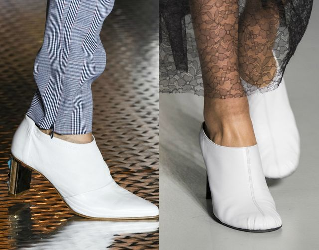 White shoes for fall winter 2017 Shoe trends