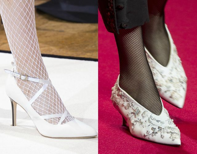 White shoes for autumn winter 2017 shoe trends