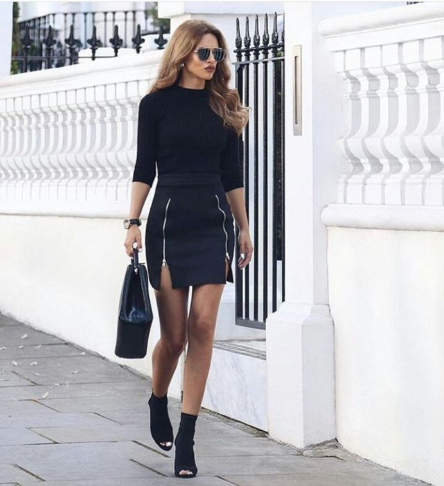 Clubbing winter outfits | Winter clubbing outfits with mini skirts